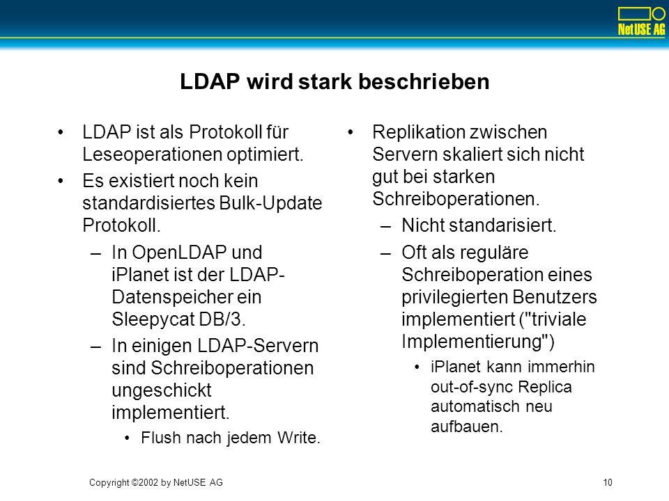 LDAP wird stark beschrieben