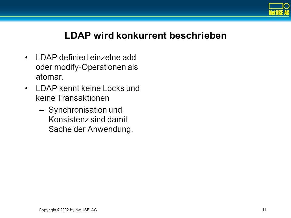 LDAP wird konkurrent beschrieben