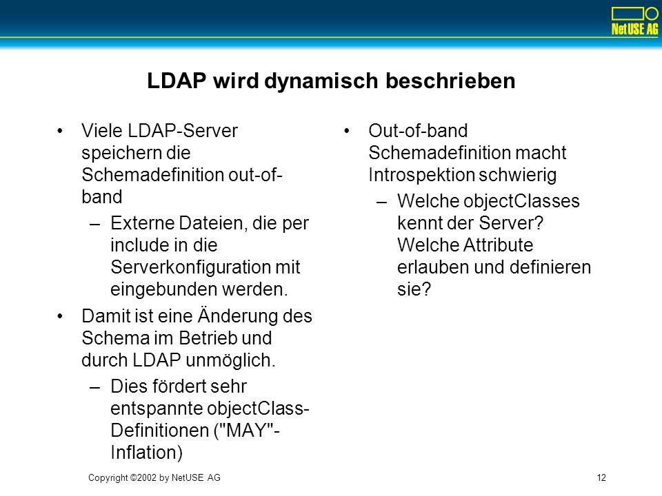LDAP wird dynamisch beschrieben