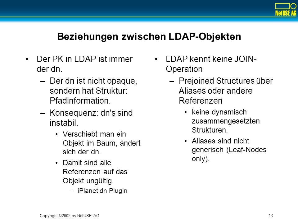 Beziehungen zwischen LDAP-Objekten