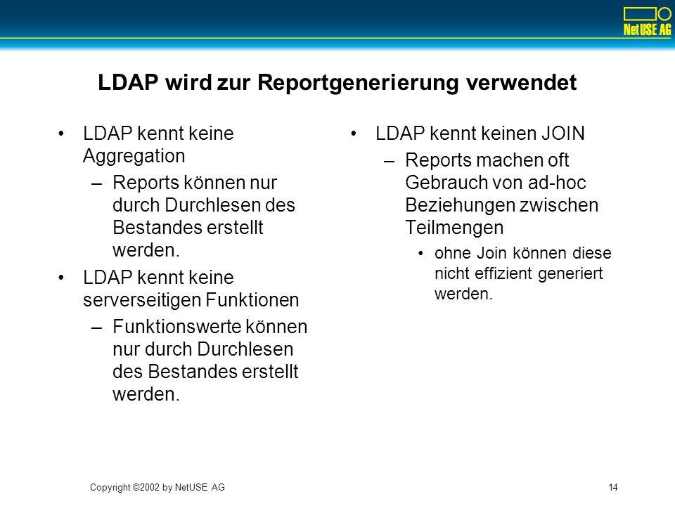 LDAP wird zur Reportgenerierung verwendet