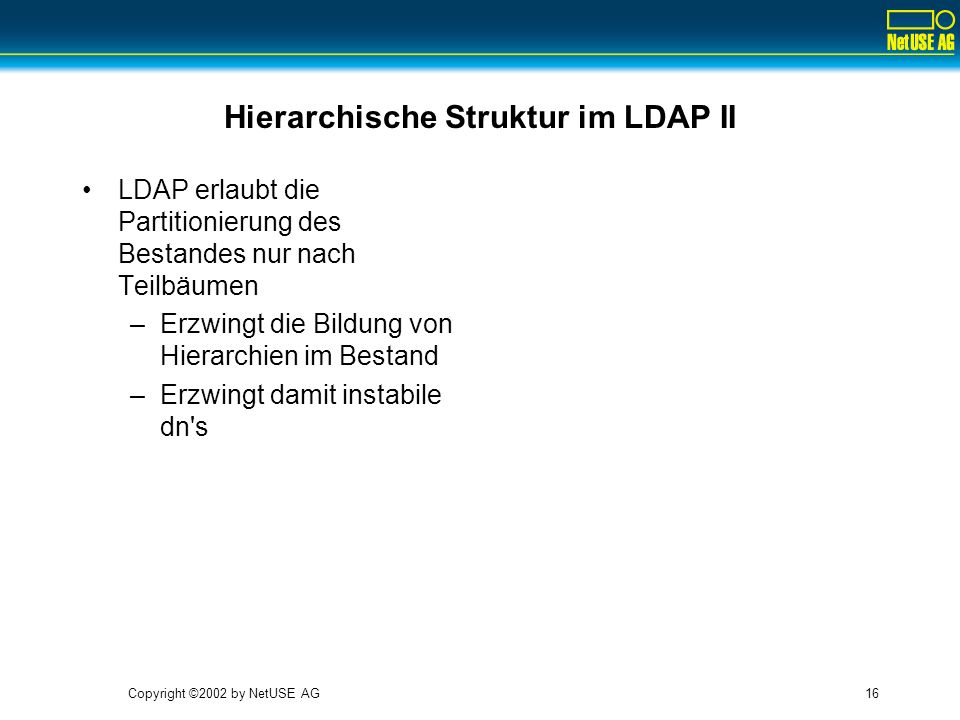 Hierarchische Struktur im LDAP II