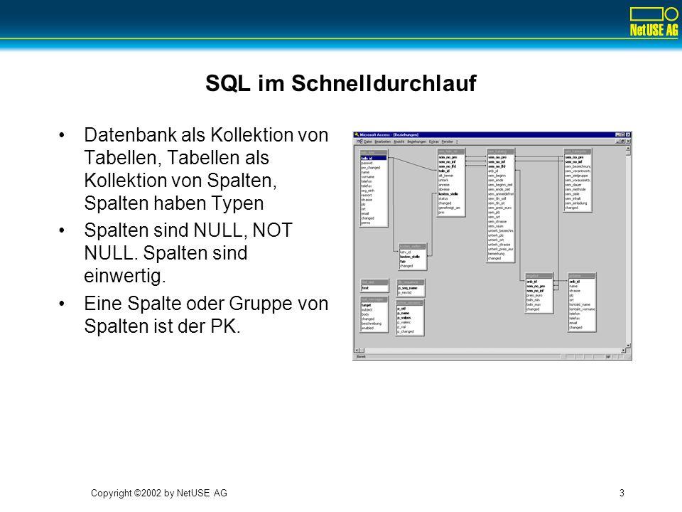 SQL im Schnelldurchlauf