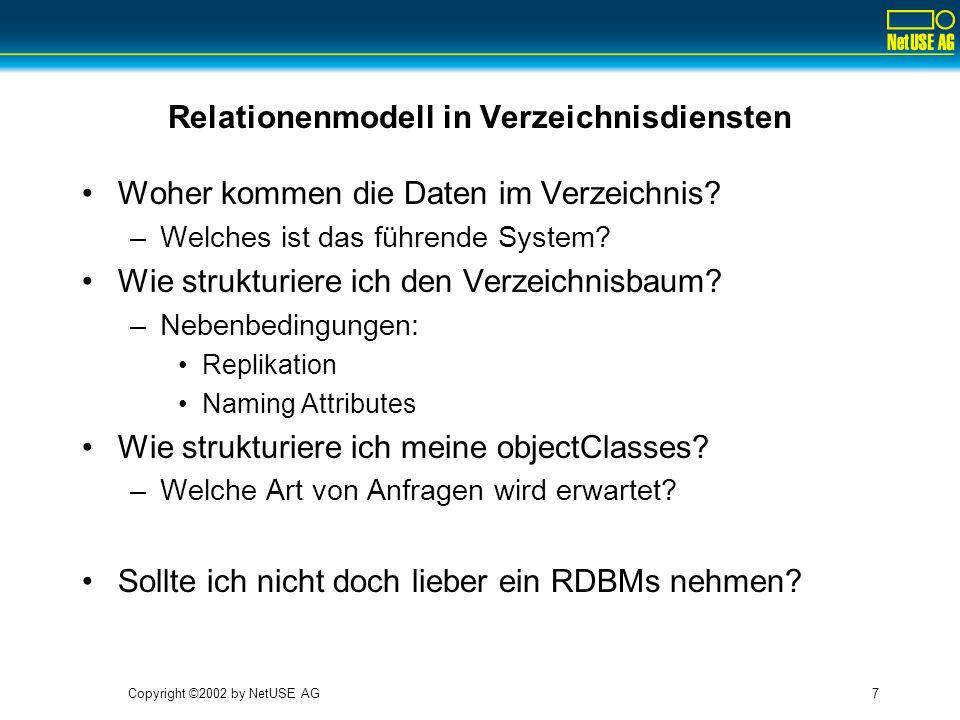 Relationenmodell in Verzeichnisdiensten