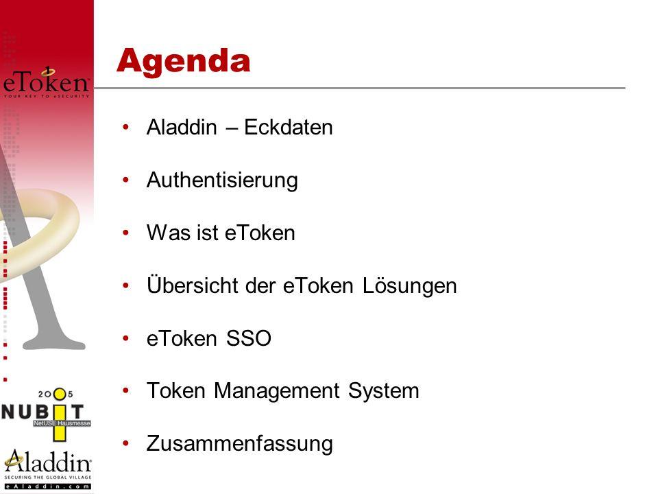 Agenda Aladdin – Eckdaten Authentisierung Was ist eToken