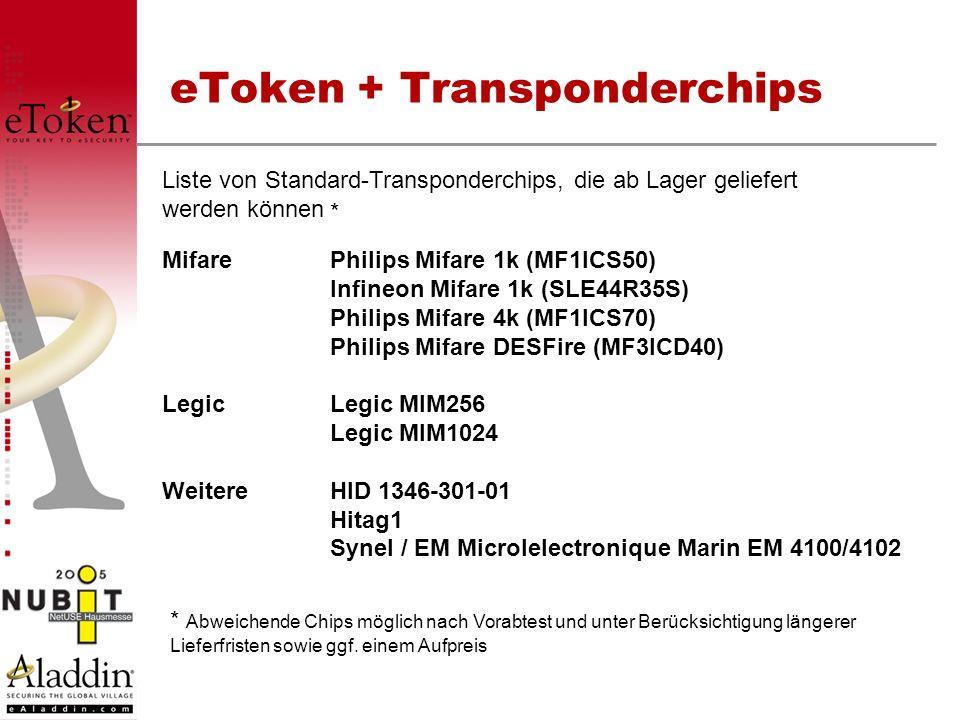 eToken + Transponderchips