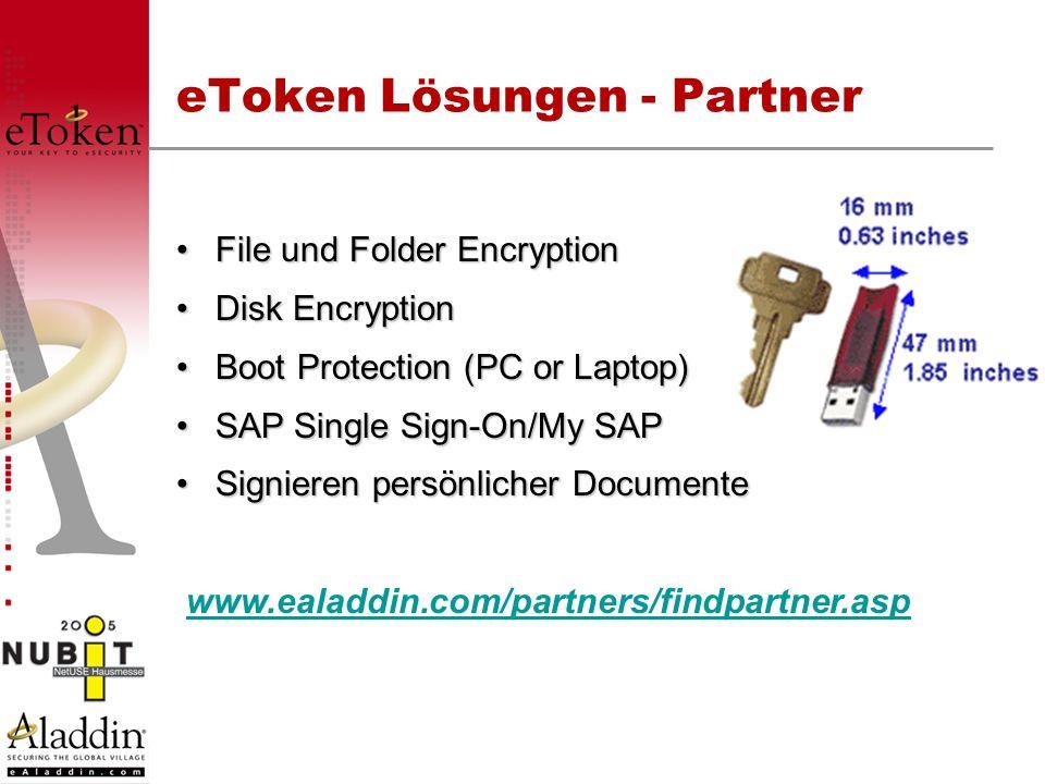 eToken Lösungen - Partner