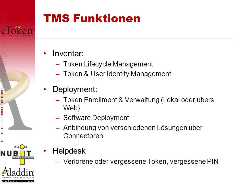TMS Funktionen Inventar: Deployment: Helpdesk