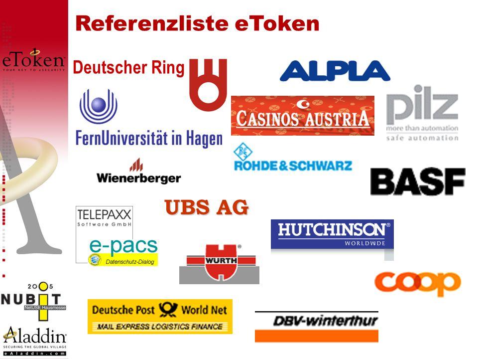 Referenzliste eToken Deutscher Ring UBS AG