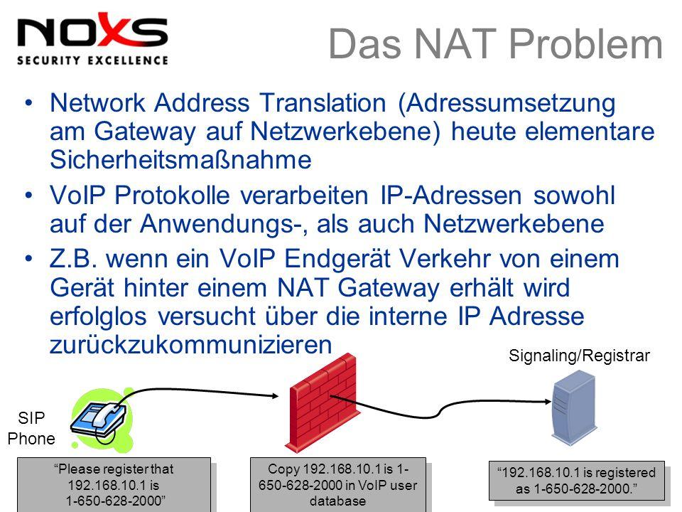 Das NAT Problem Network Address Translation (Adressumsetzung am Gateway auf Netzwerkebene) heute elementare Sicherheitsmaßnahme.