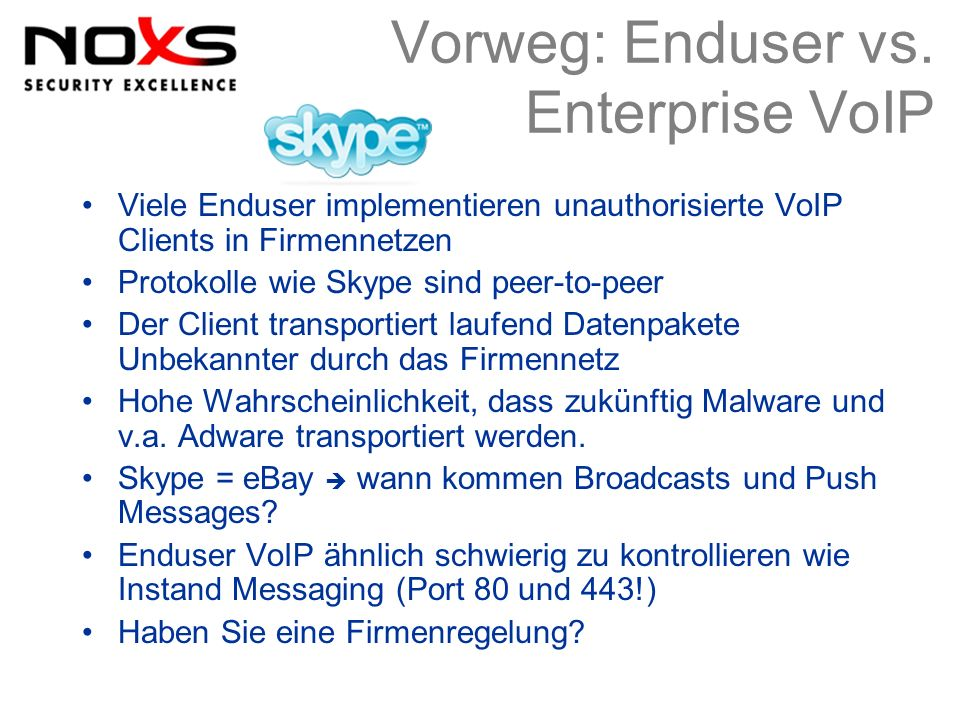 Vorweg: Enduser vs. Enterprise VoIP