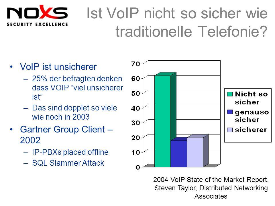 Ist VoIP nicht so sicher wie traditionelle Telefonie