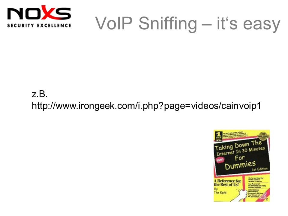 VoIP Sniffing – it's easy
