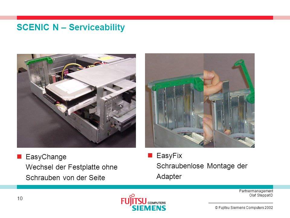 SCENIC N – Serviceability