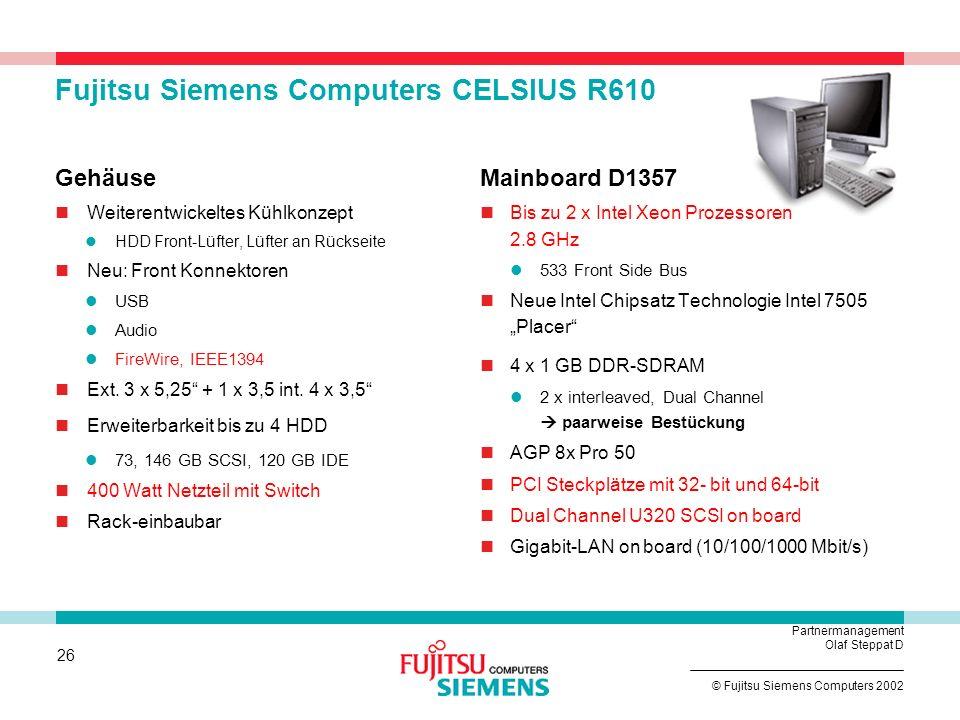 Fujitsu Siemens Computers CELSIUS R610