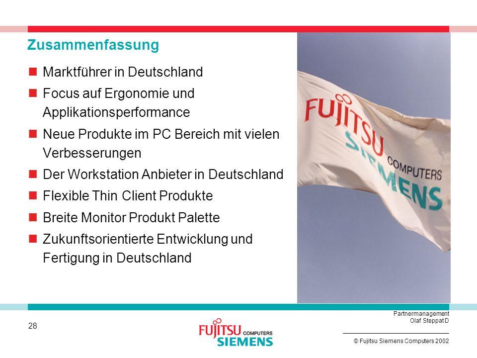 Zusammenfassung Marktführer in Deutschland