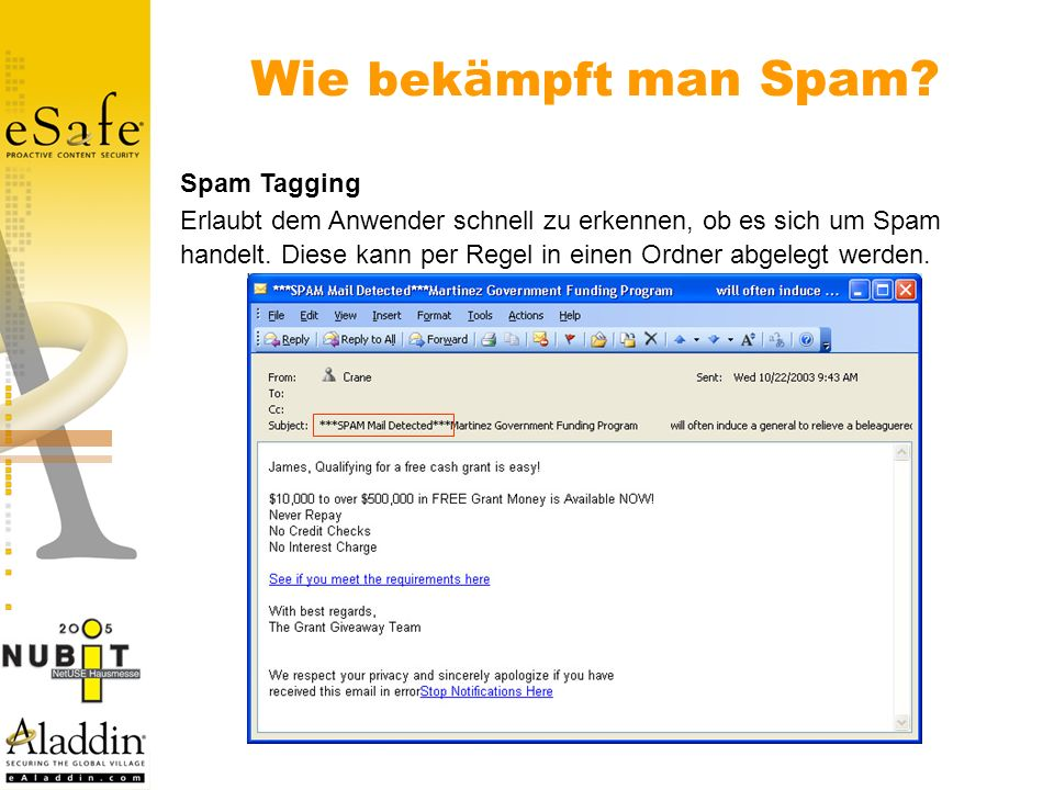 Wie bekämpft man Spam Spam Tagging