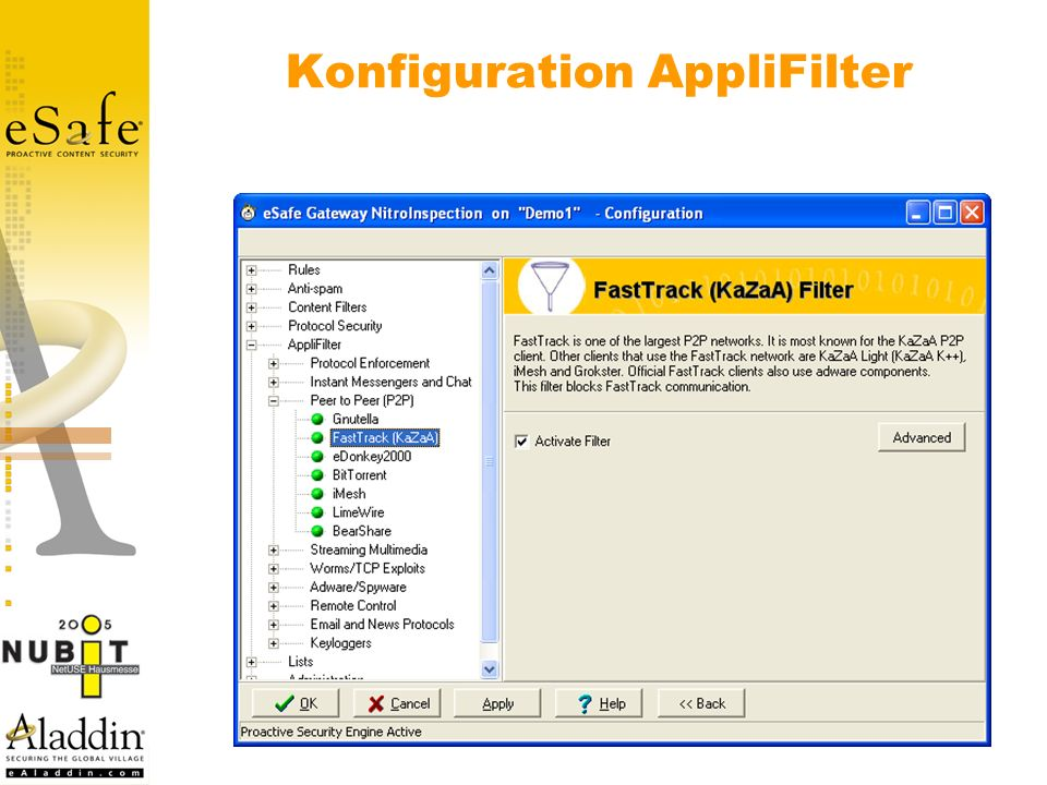 Konfiguration AppliFilter