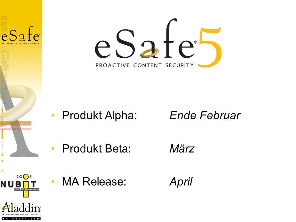 Produkt Alpha: Ende Februar