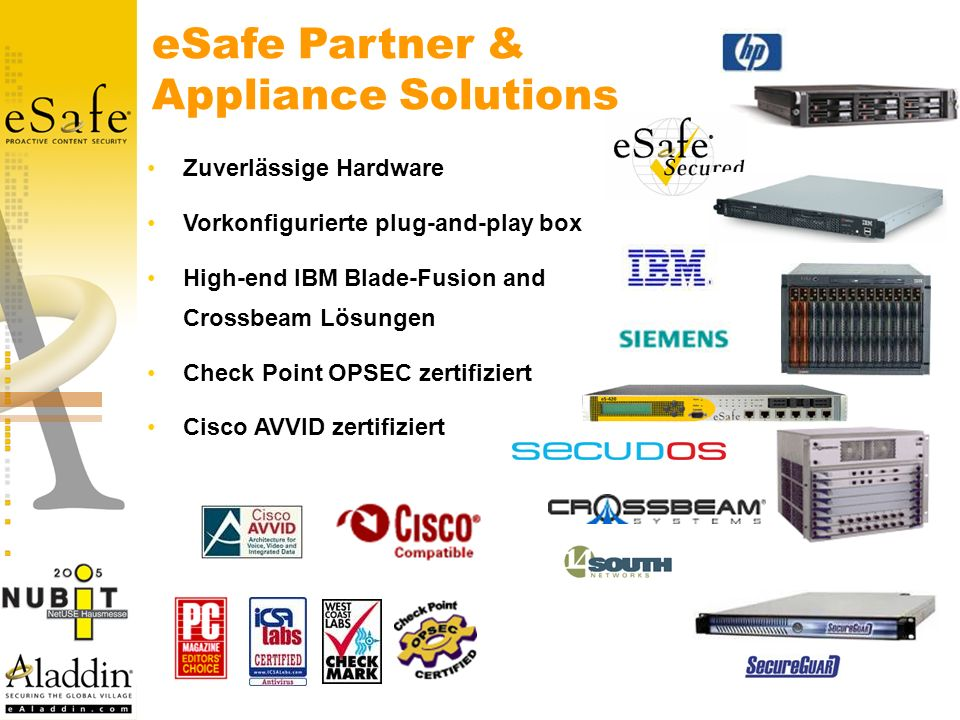 eSafe Partner & Appliance Solutions