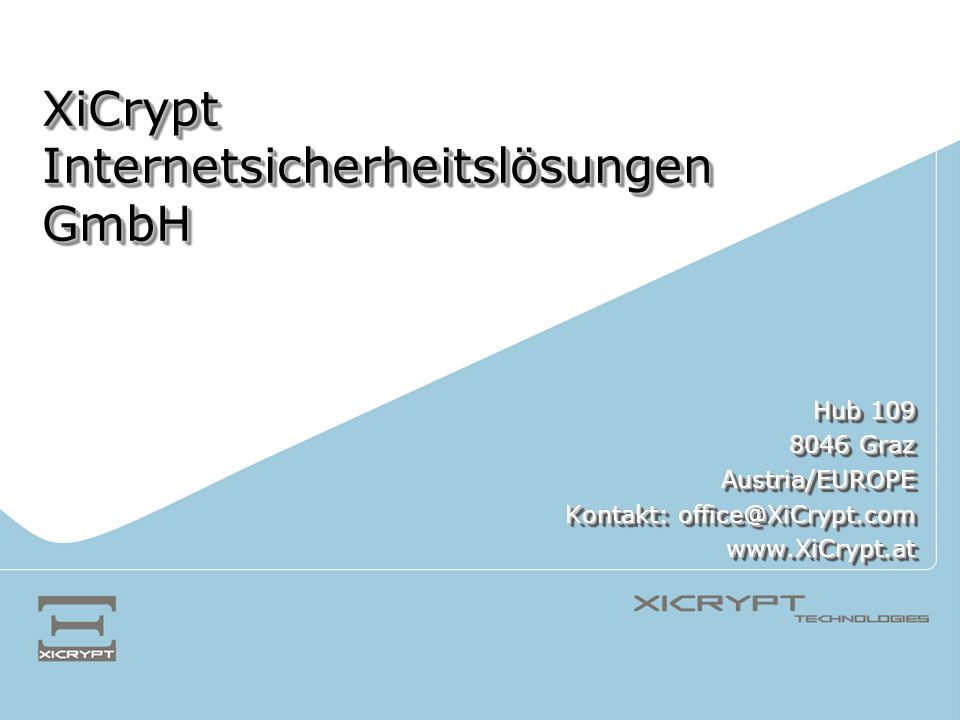 XiCrypt Internetsicherheitslösungen GmbH