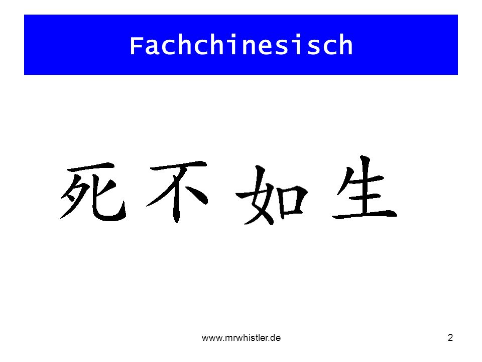 Fachchinesisch www.mrwhistler.de