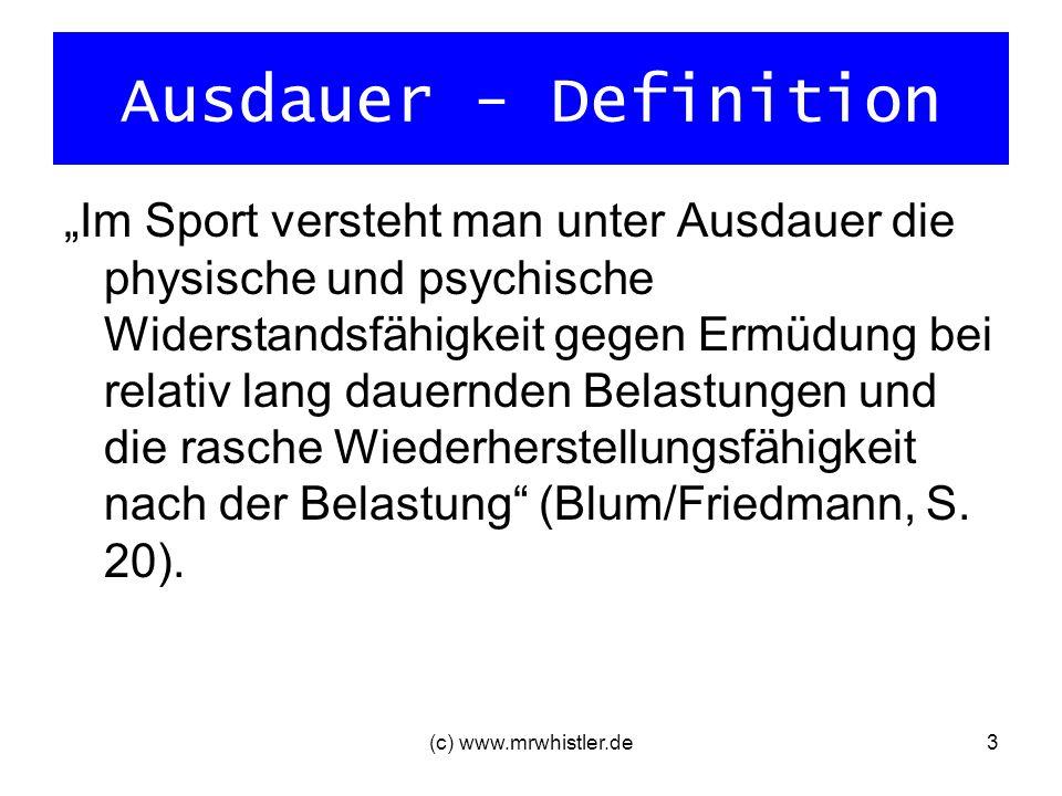 Ausdauer - Definition