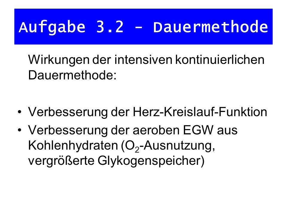 Aufgabe 3.2 - Dauermethode
