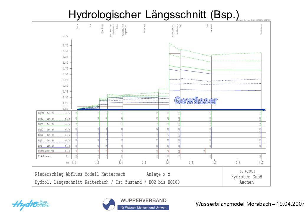 Hydrologischer Längsschnitt (Bsp.)