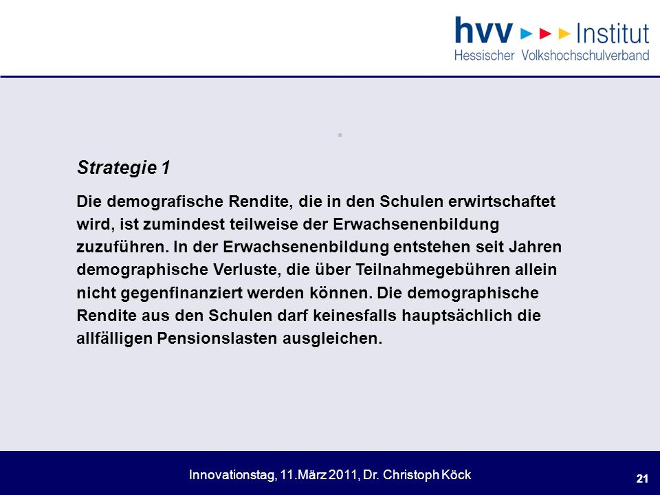 . Strategie 1.