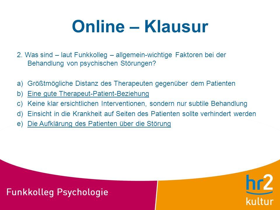 Online – Klausur