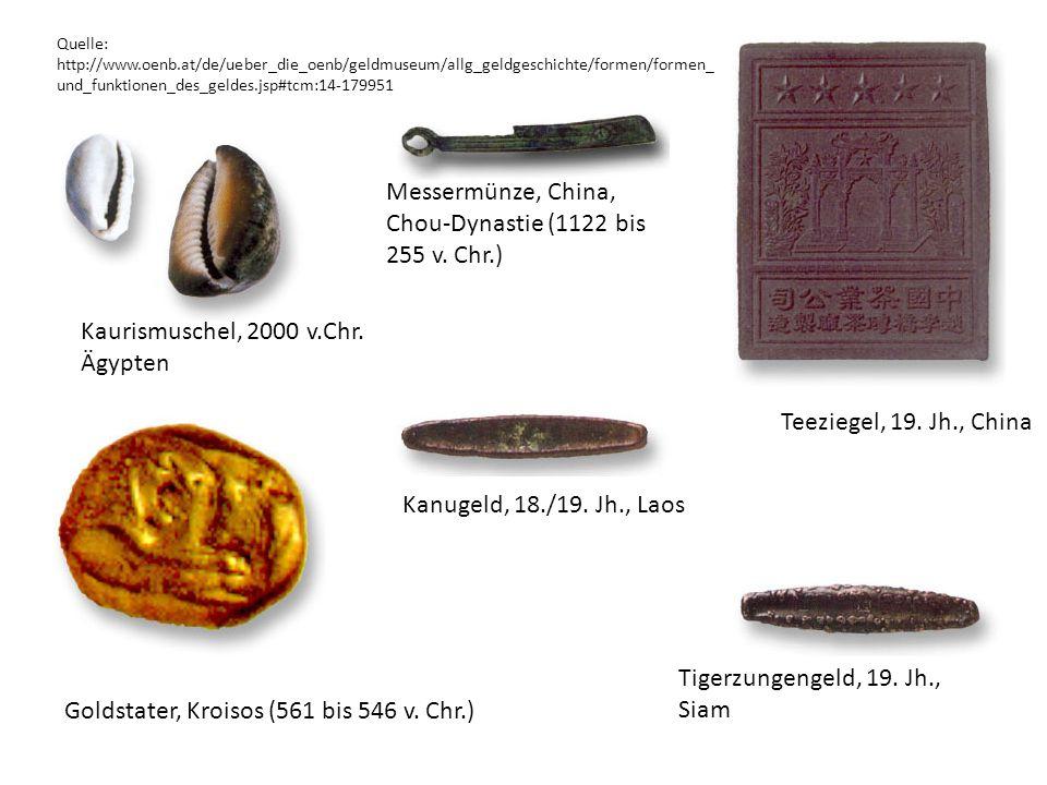 Messermünze, China, Chou-Dynastie (1122 bis 255 v. Chr.)