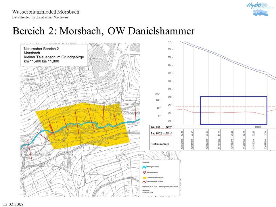 Bereich 2: Morsbach, OW Danielshammer