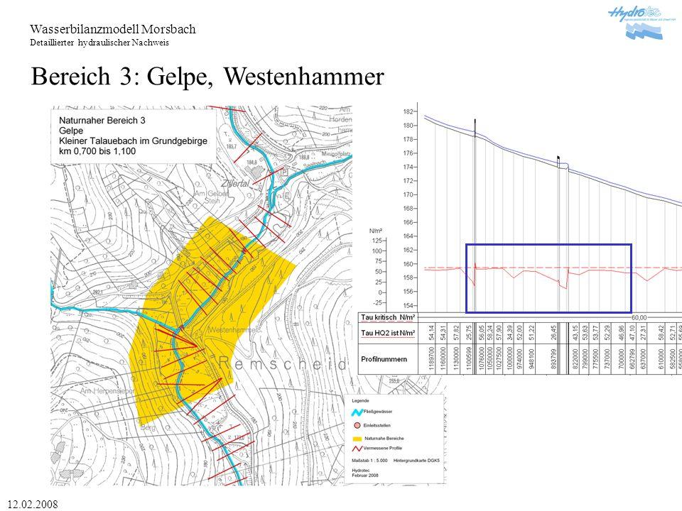 Bereich 3: Gelpe, Westenhammer