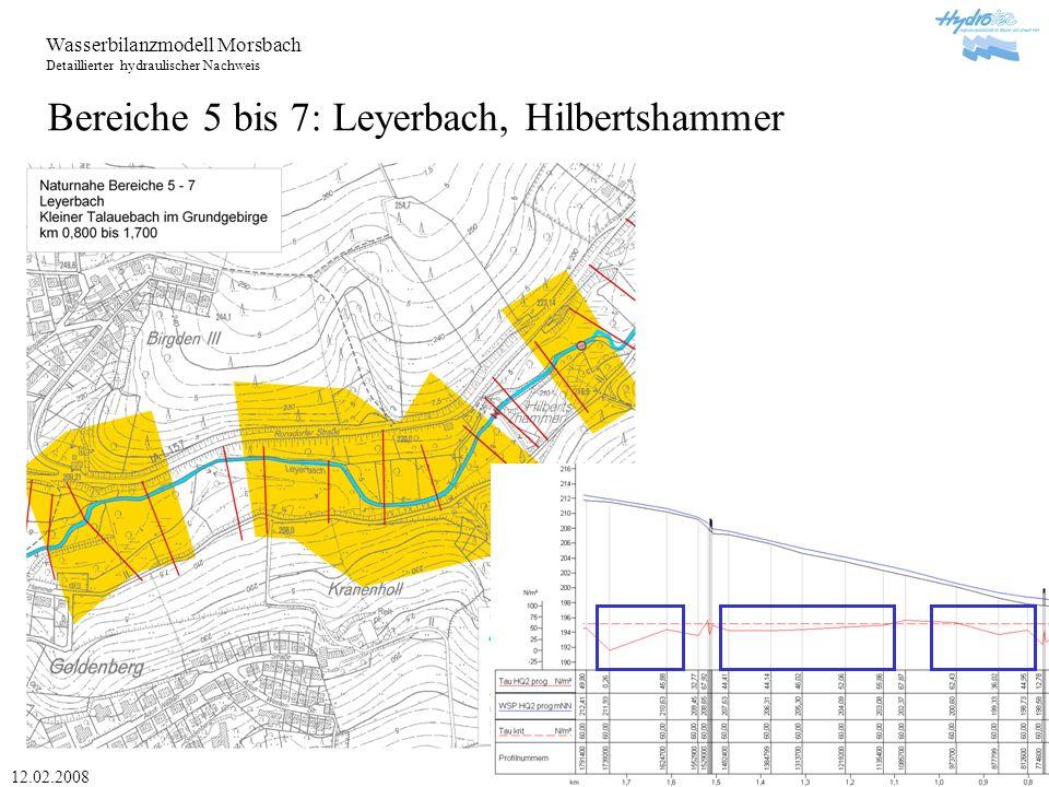 Bereiche 5 bis 7: Leyerbach, Hilbertshammer