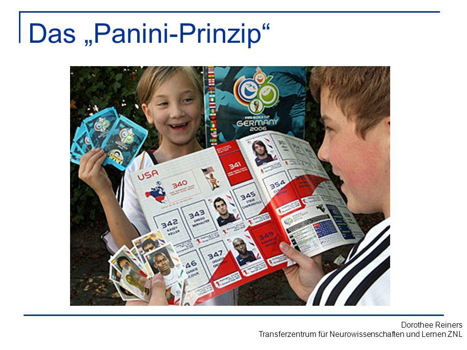 """Das """"Panini-Prinzip Frage an Publikum: wer hat Panini-Bilder gesammelt – Was haben Sie gelernt Implizites Lernen von:"""