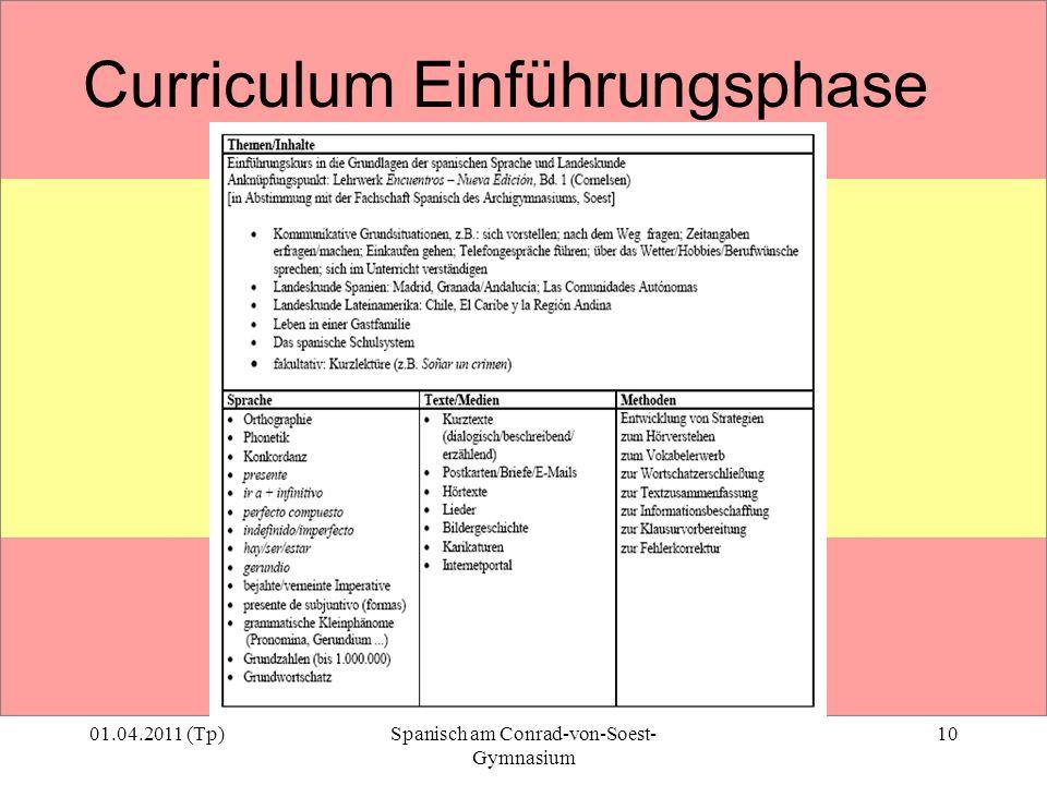 Curriculum Einführungsphase