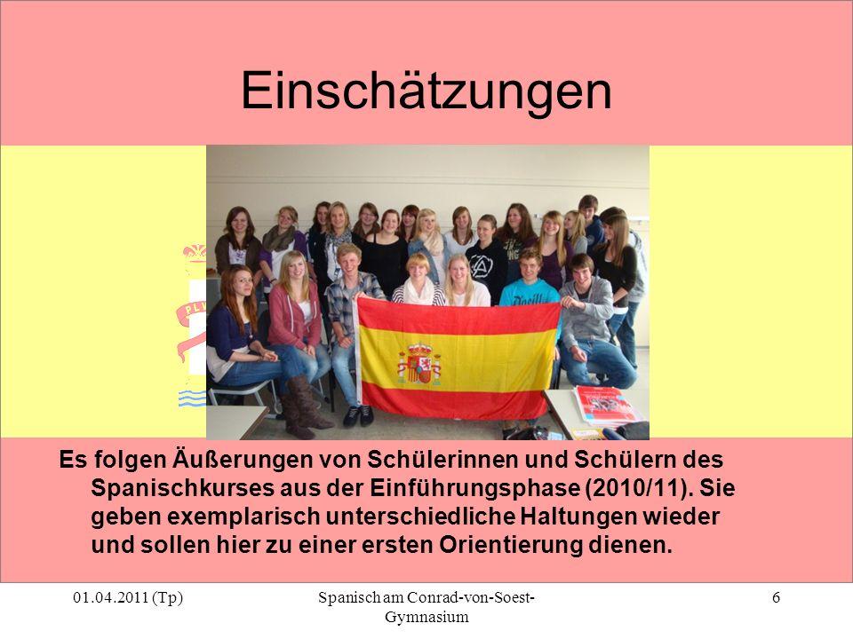 Spanisch am Conrad-von-Soest-Gymnasium