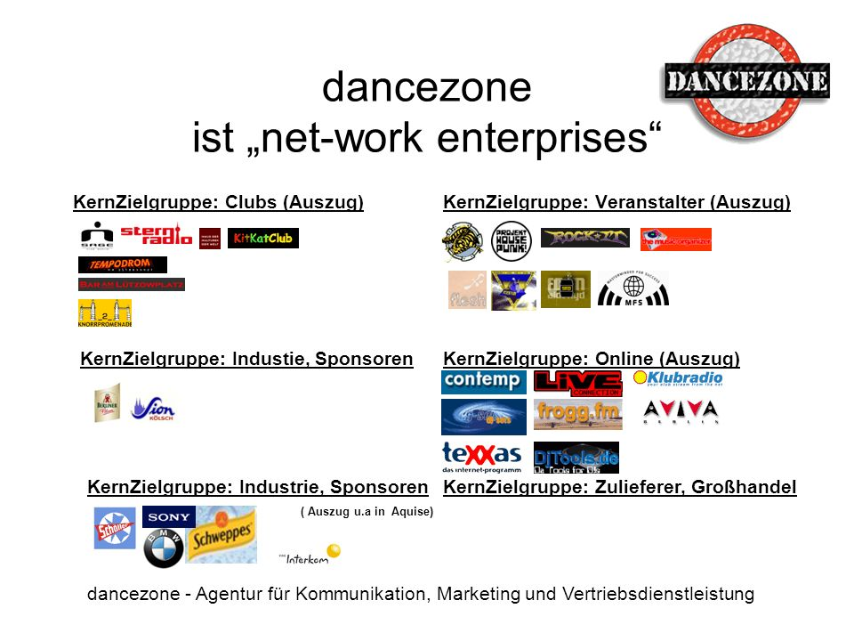 "dancezone ist ""net-work enterprises"