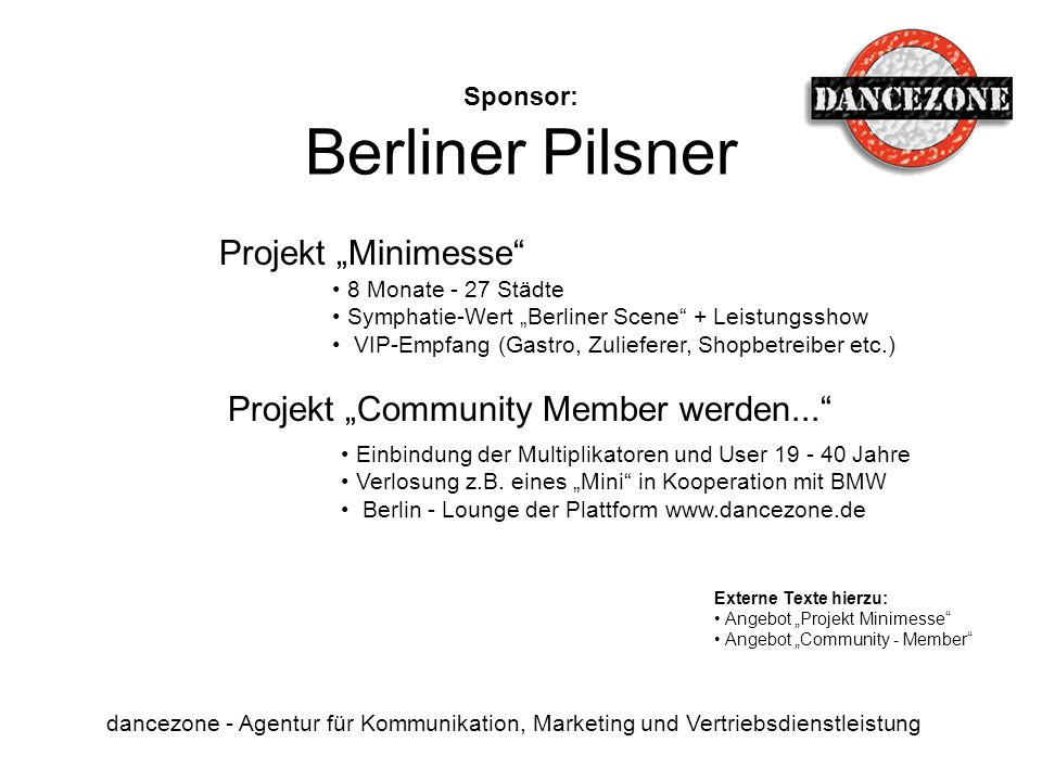 Sponsor: Berliner Pilsner
