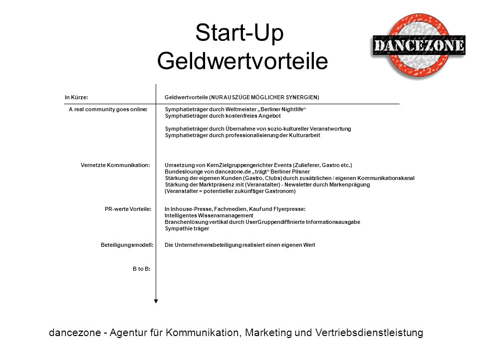 Start-Up Geldwertvorteile