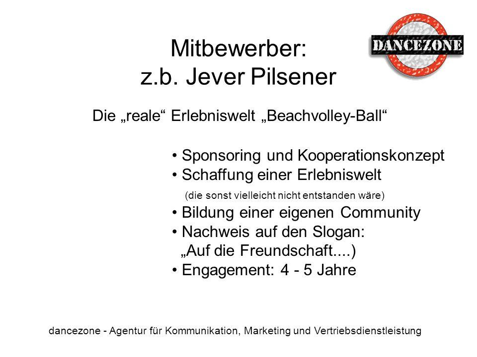 Mitbewerber: z.b. Jever Pilsener