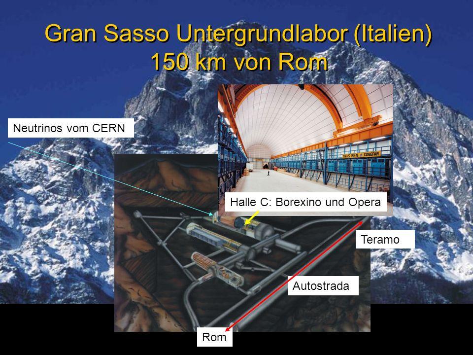 Gran Sasso Untergrundlabor (Italien) 150 km von Rom