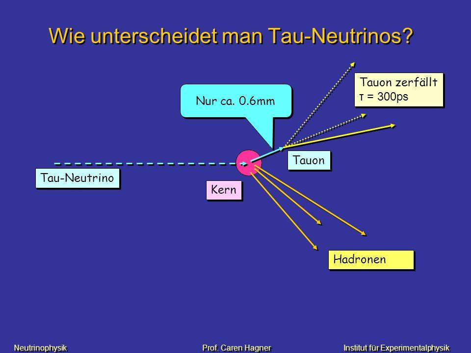 Wie unterscheidet man Tau-Neutrinos