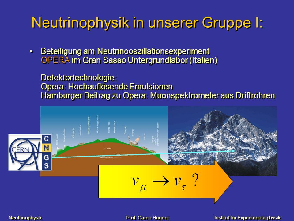 Neutrinophysik in unserer Gruppe I: