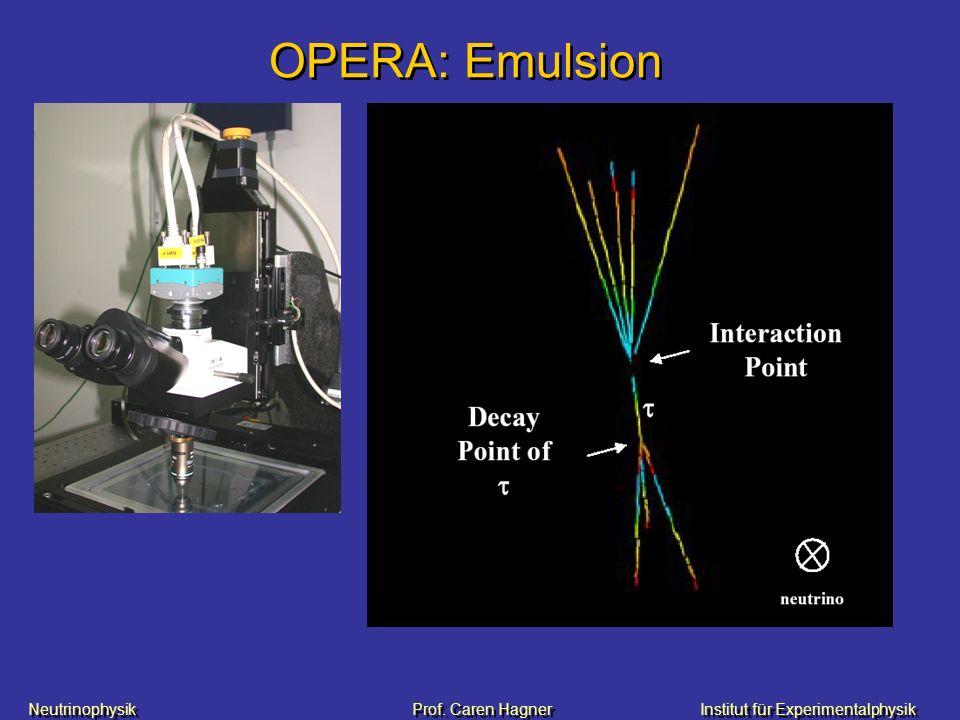 OPERA: Emulsion