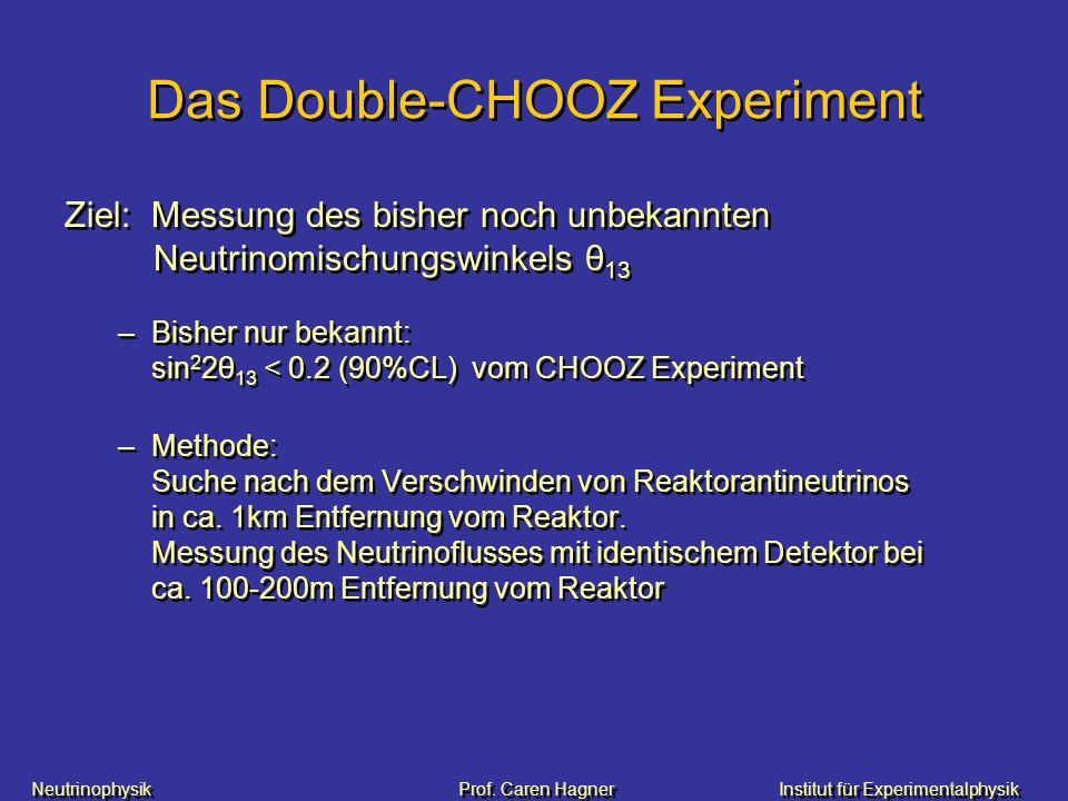 Das Double-CHOOZ Experiment