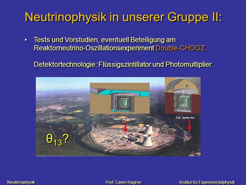 Neutrinophysik in unserer Gruppe II: