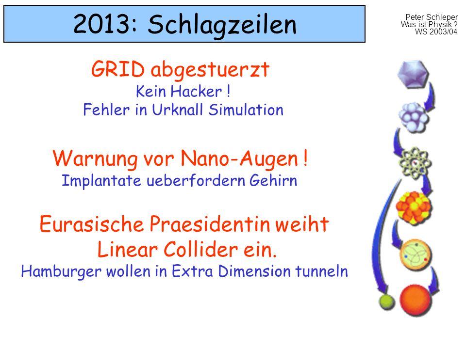 2013: Schlagzeilen GRID abgestuerzt Warnung vor Nano-Augen !