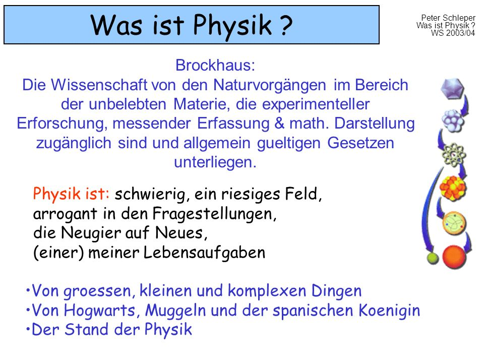 Was ist Physik Brockhaus: